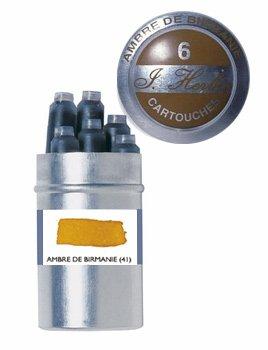 J. Herbin Refills Ambre De Birmanie Fountain Pen Cartridge - H201-41