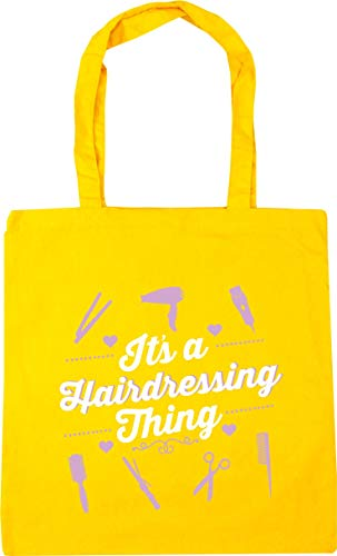 HippoWarehouse Bag Shopping It's litres x38cm a 10 Yellow hairdressing Gym thing Tote 42cm Beach H6xHrq