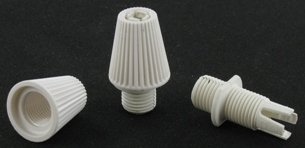 Strain Reliefs for Pendant Lighting, 50pk White - Strain Relief Cord Grips for Wiring - 1 pack of 50 by Industrial Rewind