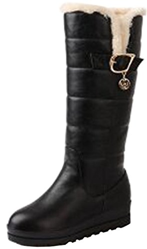 Laruise Women's Snow Boots Black LyKwf4CE