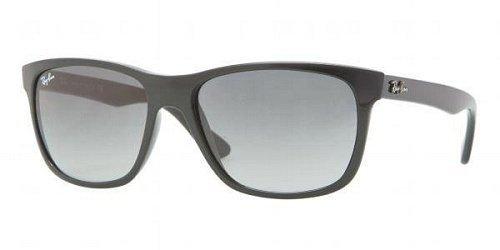 Ray Ban RB4181 Sunglasses-601/71 Black (Gradient Gray - Ray Lenses Sunglasses Ban Reflective