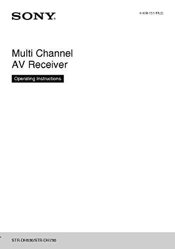 Sony STR-DH730 STR-DH830 AV Reciever Owners Manual [Plastic Comb] [Jan 01, 19... (Strdh830 Sony)