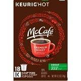 McCafe Premium Decaf Medium Roast Coffee K-Cup Pods, 18 count, 6.2 OZ (176g)