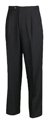 Smitty Men's Pleated Black Basketball Referee Pants (34