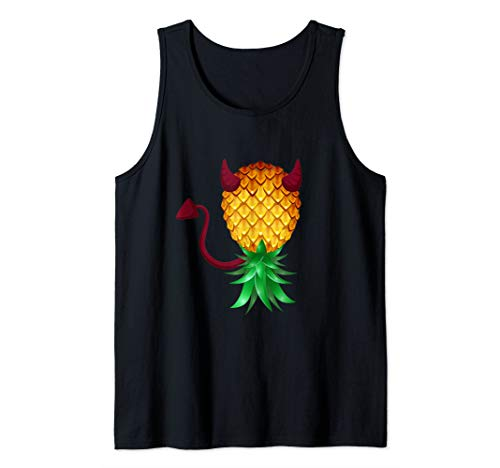 Swinger Upside Down Bad Pineapple Devil Horn Tank Top