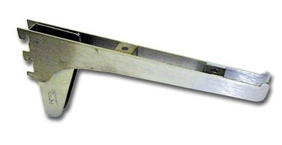 Kv Medium Duty Shelf Bracket 8'' Double Slot Anochrome by Knape & Vogt