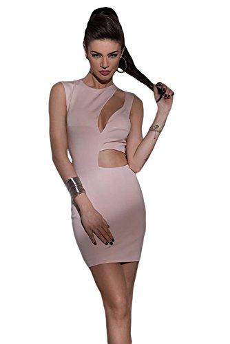shelovesclothing - Vestido - ajustado - Sin mangas - para mujer Rosa