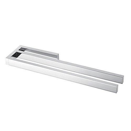 AVENARIUS Handtuchhalter zweiarmig 390 mm für Badmöbel verchromt - Serie Universal