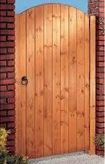 Captivating 4FT HIGH ARCH TOP GARDEN GATE 950MM WIDE