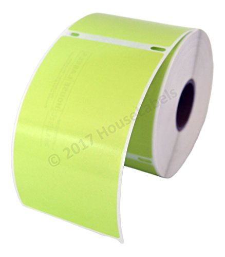 6 Rolls, 300 Labels per Roll of DYMO-Compatible 30256 Removable Green Shipping Labels (2-5/16 x 4) - BPA Free!