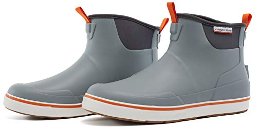 (Grundéns Men's Deck Boss Ankle Boot, Monument Grey - 13 M)