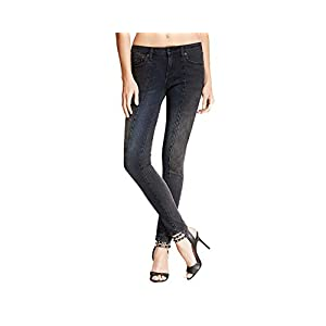 D-ID Denim York Women's Mood Dark Skinny Stitch Jeans