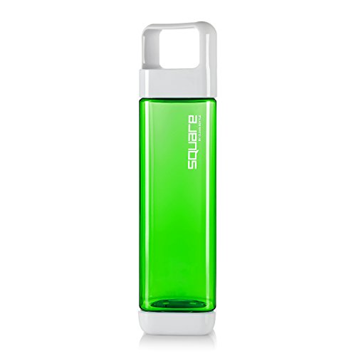 - Clean Bottle The Square BPA-Free Water Bottle, Opens from Both Ends, 25 Ounce, Green