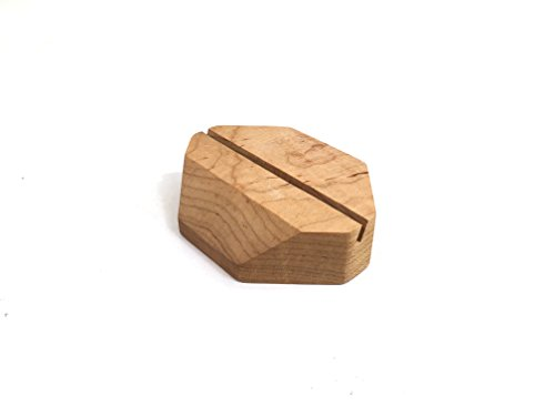 Geometric Maple Wood Business Card Holder