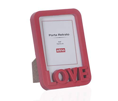 Porta Retrato Love Etna Vermelho