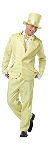 Funky Tuxedo Adult Men Costumes (Mens Funky Yellow Tuxedo Adult Costume STD)