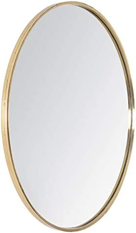Mh London Wall Mirror Round Hand Turned Metal Accent Mirrors For Hallway Living Rooms Bathroom 61 Cm X 2 Cm X 61 Cm Vasto Gold Amazon Co Uk Kitchen Home