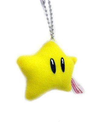 Mario Bro: 3inch Plush Keychain - Starman