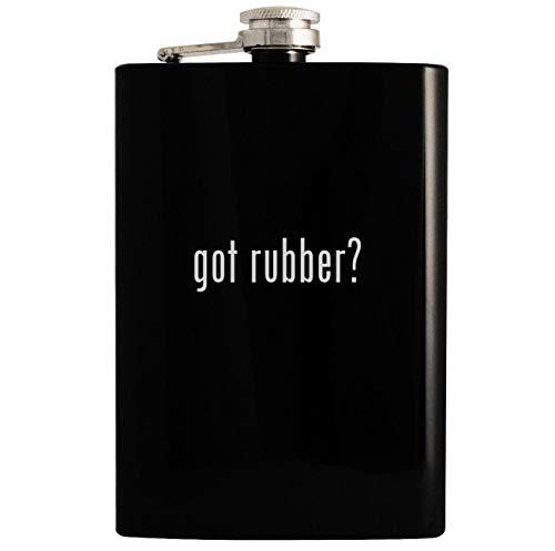 got rubber? - Black 8oz Hip Drinking Alcohol Flask