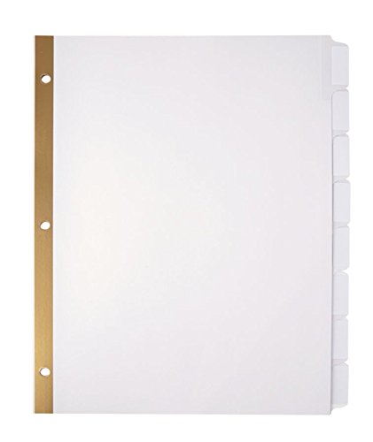 (OfficeMax Index Dividers with White Laser Printer Labels, 8 Tabs, 5/pk)
