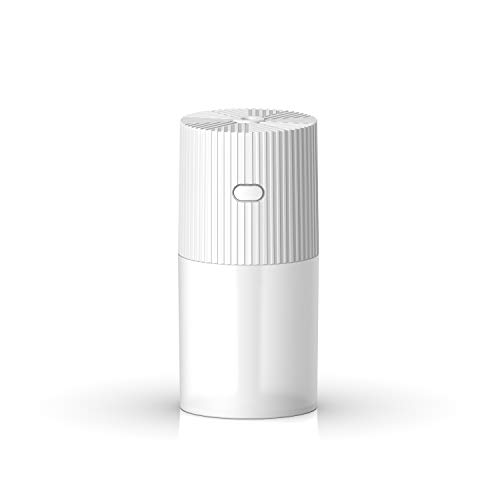 FREGENBO Mini Cool Mist Humidifier Portable - Personal 300ML and 7 Colors LED Night Light with USB - Whisper Quiet Operation Automatic Shut-Off for Home - White
