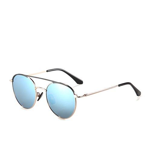 Gafas Unisex de TL Guía Sol Rosa Sunglasses de polarizadas C3 Aviador Sol C4 Gold Blue Metal Gafas Hombres de Bastidor de Gold Sol Gafas TrOa6xT