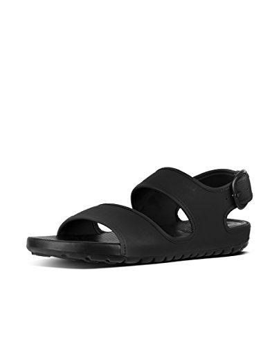 Fitflop Lido Back-Strap Sandals Neopr - Sandalias de Hombre EN Color Negro
