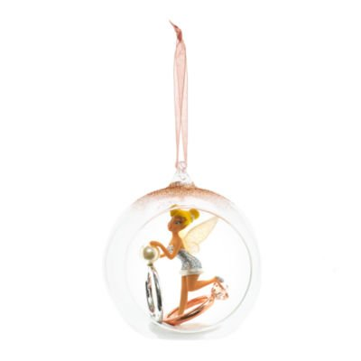 Tinkerbell Christmas Decorations Uk.Official Disney Tinker Bell Bauble With Rings Christmas
