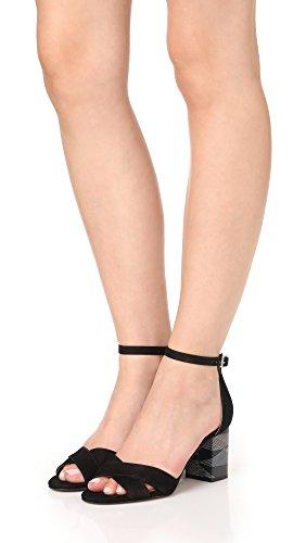 s Madden Voomme Steve Women's Dress STEVEN Sandal Nubuck by Black w5EqIyyX