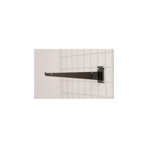 Metal Shelf Bracket for Wire Grid in Black 12 Inch - Count of 8