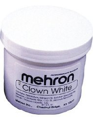 Mehron Makeup Clown White 16 oz (Halloween Costume Using Umbrella)