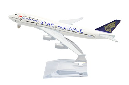 1:400 16cm Boeing B747-400 Singapore Airlines Star Alliance Metal Airplane Model Plane Toy Plane Model