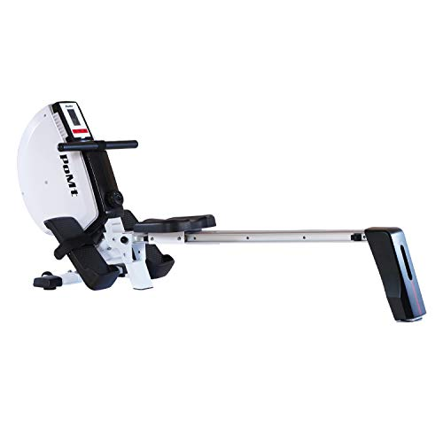 Foldable Magnetic Rowing Machine Indoor Rower with LCD Monitor 8 Levels Tension Resistance Compact Exercise Equipment Home Gym Rower Machine for Home Quiet Rowing Machine Easy Storage, R120T