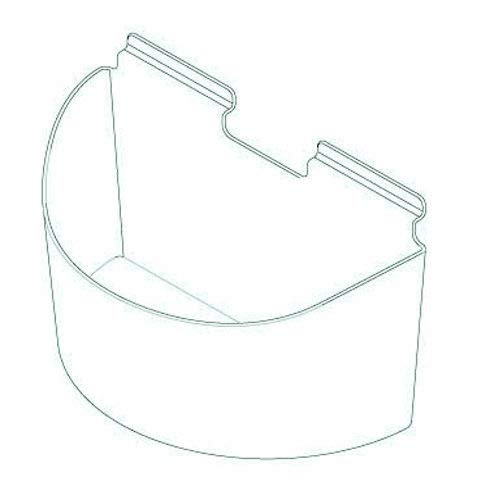 Slatwall Clear Acrylic Round Arc Display Bin, 6'' H x 6'' D x 11.75'' W, 10 Pack