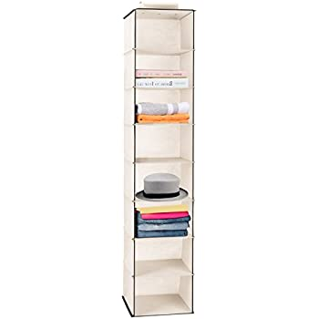 Hanging Closet Organizer, MaidMAX Collapsible Hanging Closet Shelf Wardrobe  Organizer Shoe Holder for Clothes Sweater