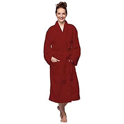 Cheer Collection Luxurious Cotton Terry Bathrobe With Shawl Collar - Large/XL