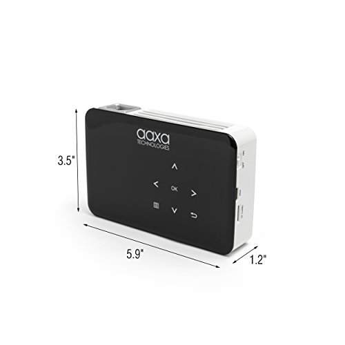 AAXA P300 Neo LED Video Projector - Supports 1080p for computers, smartphones, home theater, business presentations with HDMI/Mini VGA/USB/microSD Inputs, 3.5mm Aux Out, and up to 2.5hr Battery by AAXA Technologies (Image #4)