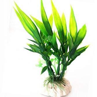 Wiwi.f Shenmu trèfle 10 * 6 * 5 cm Simulation Eau Herbe/Tortue Set de Plantes Plante/Aquarium réservoir de Poissons décorations décorations