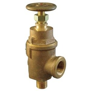 "Kunkle 0019-E10-MG0050 Bronze Liquid Relief Valve, 50 Preset Pressure, 1"" NPT Female Inlet x NPT Male Outlet from Tyco Valves & Controls"