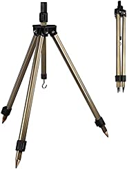 Pilvnar Fishing Rod Racks,Portable Fishing Rod Holder Stand Aluminum Alloy Fishing Pole Telescopic Tripod Stan