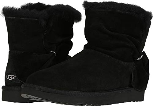 UGG Women's Classic Mini Twist Fashion Boot Black 9 for sale  Delivered anywhere in USA
