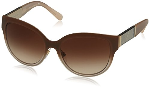 Burberry BE3087 Sunglasses 114513-57 - Light Gold Frame, Brown Gradient