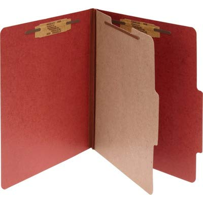 15034 Acco Classification Folder - Letter - 8.50quot; Width x 11quot; Length Sheet Size - Ring Fastener - 2quot; Folder Fastener Capacity - 1 Dividers - 25 pt. - Pressboard - Earth Red - 10 / Box