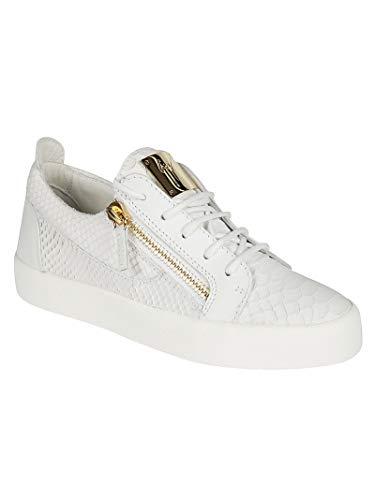 Rw70000014 Cuero Zanotti Blanco Design Zapatillas Giuseppe Mujer qtgAvwS