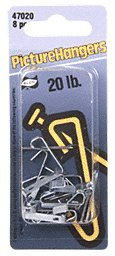 CRL 20 Pound Carded Picture Hangers - Carton (80 hangers)