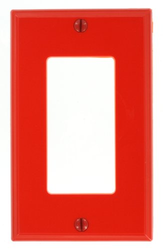 ang Decora/GFCI Device Wallplate, Standard Size, Thermoplastic Nylon, Device Mount, Red (Red Standard Switch)