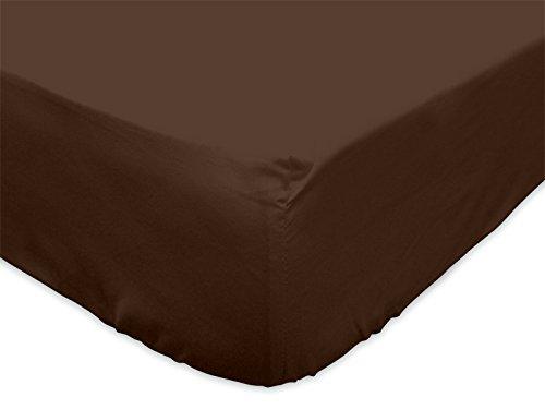 Atmosphère - 614212 - Drap Housse Uni - 160 x 200 cm - Atmo Chocolat