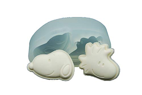 Handmade Silicone Mold Mould sugarcraft Candle Clay ice Tray Chocolate soap Making 2 Snoopy Friends