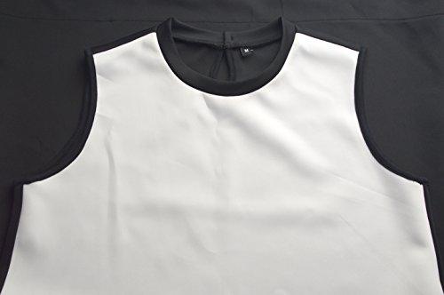 Bobosell Réservoir Femmes Manches Lettre Q Sundress Impression T-shirt Robe Fraîche Pug9