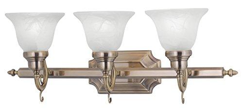 Antique Brass French Regency 3 Light Bathroom Vanity (Regency 3 Light Vanity)